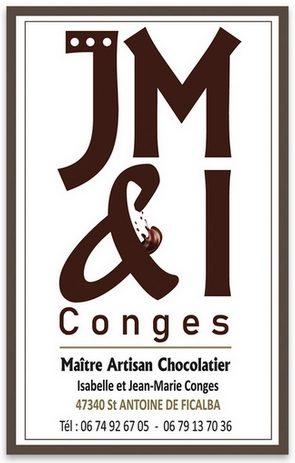 Chocolats Jean-Marie Conges – Artisan chocolatier –  Saint-Antoine de Ficalba – 47340 – Lot-et-Garonne –